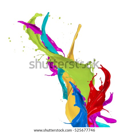 Abstract color splash isolated on white background #525677746