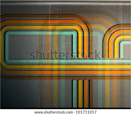 abstract color strip metal grunge background - vector version in portfolio