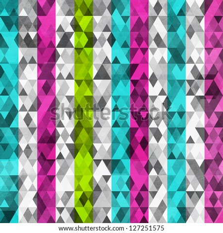 abstract color triangles seamless with grunge effect (raster version)