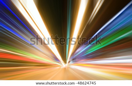 Abstract colored light at night