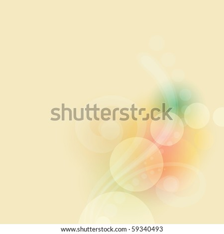 abstract colorful  background, clip art  illustration - stock photo