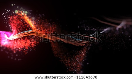 Abstract colorful background (Color Particles).
