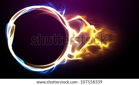 Abstract colorful background (Color Particles). Circle plasma.