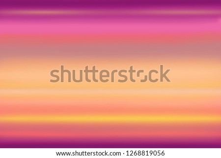Abstract colorful background, dawn sky colors, gradient from purple to yellow color, trendy color spectrum.