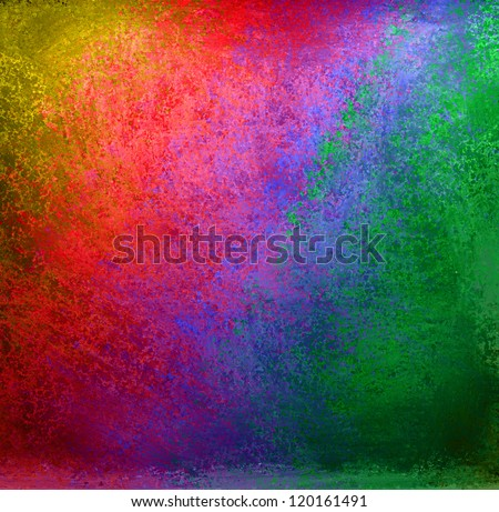 abstract colorful background, rainbow colors of yellow red orange blue purple green in streaky messy pattern of vintage grunge background texture design for tie dye background or web design banner