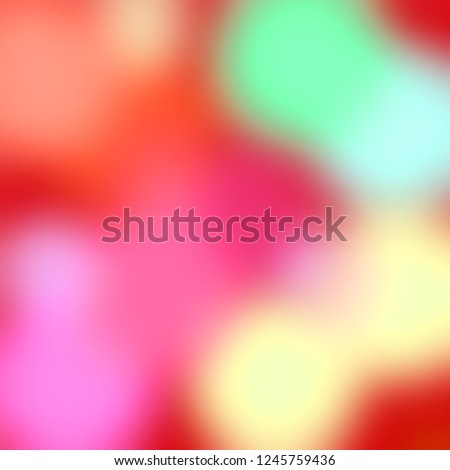Abstract colorful background. Red, green, yellow, violet and pink pastel colors. Roundish shapes, blurred lights backdrop.