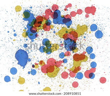Abstract colorful background. Splash water color.