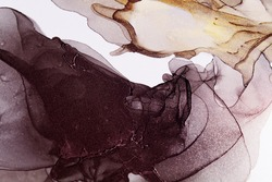 Abstract colorful background, wallpaper. Modern art. Ink, paint, abstract. Closeup of the painting. Alcohol ink painting