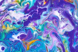 Abstract colorful background, wallpaper, texture. Mixing  paints. Modern art. Marble texture