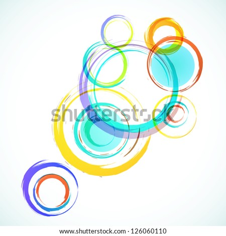 Abstract colorful background with grunge circles.