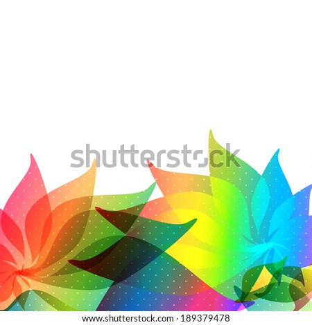 Abstract colorful background with place for text