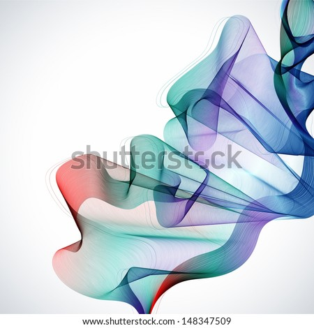 Abstract colorful background with wave, illustration for design