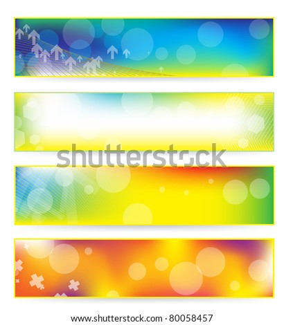 abstract colorful banner set (also available vector version)