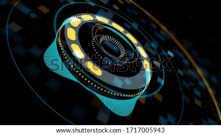 Abstract colorful bass beat motion background. Animation. Audio equalizer for night clubs, dance stage, parties, events, performances, audiovisual shows, electronic music concerts, seamless loop. stock photo