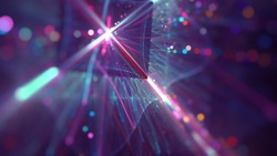 Abstract colorful blurred fractal background