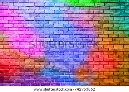 Abstract colorful brick wall texture and background.