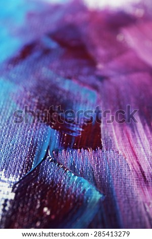 Abstract colorful brushstrokes as background