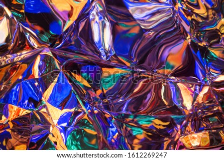 Abstract colorful city night lighting and reflection , de-focused blue color , orange color and yellow  color background .