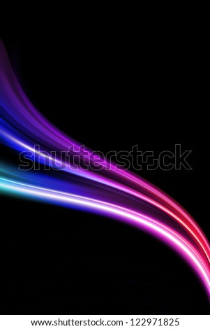 abstract colorful design on a black background