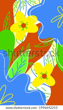 abstract colorful flora illustration for backdrop, wallpaper, backdrop, textile, and print Photo stock ©