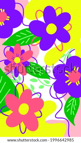 abstract colorful flower illustration for backdrop, wallpaper, backdrop, textile, and print Photo stock ©