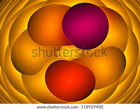 abstract colorful fractal background with symmetrical shapes