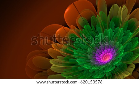 Shutterstock Abstract colorful fractal flower 4k resolution