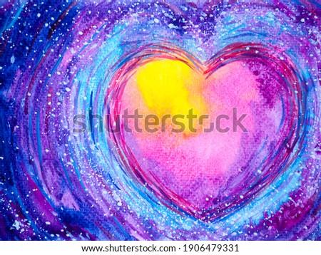 abstract colorful heart love mind mental spiritual soul soulmate inspiring universe emotions energy healing art watercolor painting illustration design color spirit lgbtq love symbol lgbt pride lgbtq+ Сток-фото ©