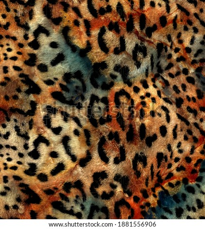 Abstract colorful, leopard pattern textile pattern