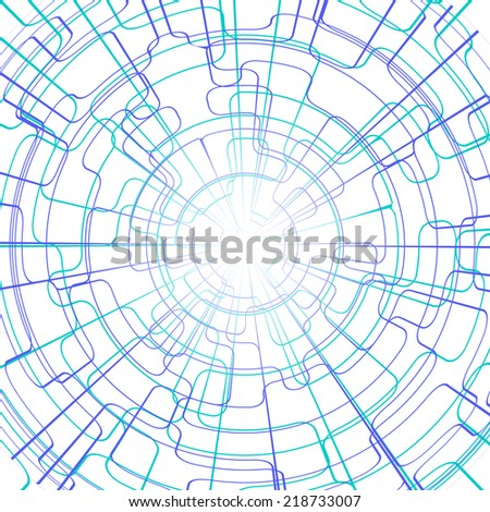 Abstract Colorful Lines Technology Background. illustration. #218733007