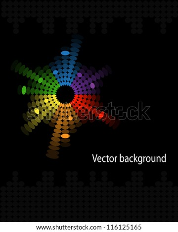 abstract colorful music volume equalizer on black background