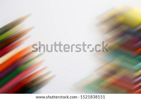 Abstract colorful of colored pencils on white background. Digital colors backdrop.