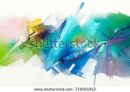 abstract colorful oil painting...
