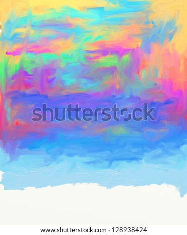 abstract colorful painted background with a spatula