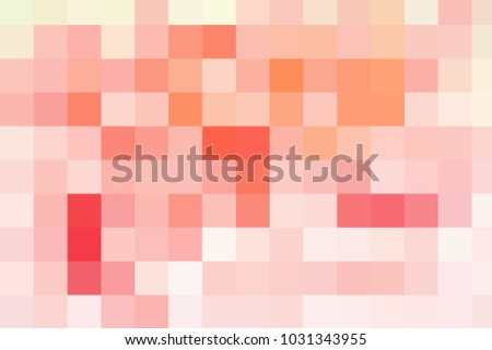 Abstract colorful pastel square mosaic for background, sweet coral pink color heme, design from my photography