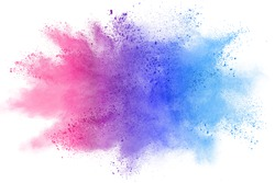 abstract colorful powder splatted background on white background.