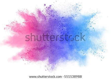 abstract colorful powder splatted background on white background. #551538988