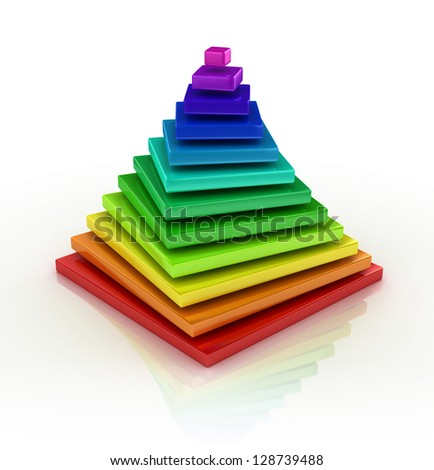 abstract colorful pyramid