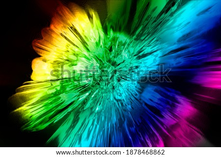 Photo of  Abstract Colorful Rainbow Glassy Explosion