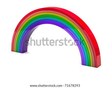 Abstract colorful rainbow isolated on white background.