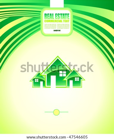 Abstract Colorful Real Estate Background for Brochures or Depliants