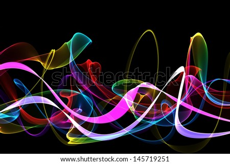 Abstract twisted wave smoke