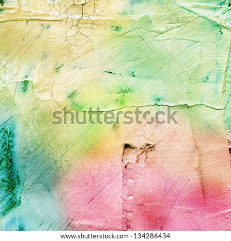 Abstract colorful scratched background