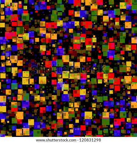 Abstract Colorful Squares seamless tile background