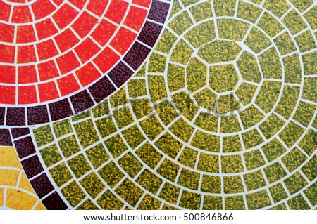 abstract colorful tile floor with Spiral pattern texture background #500846866