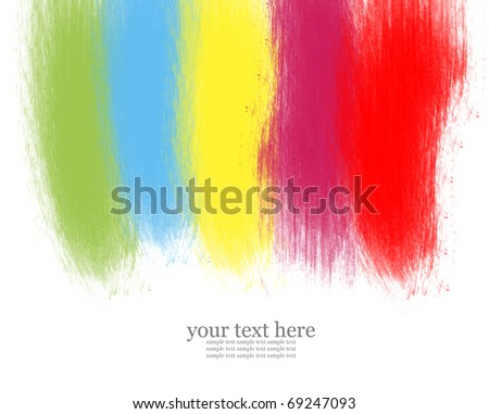 abstract colorful watercolor brush - stock photo