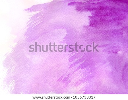 Abstract colorful watercolor for background. Textured paint background paper for design, web, banner and etc. #1055733317