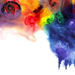 Abstract colorful watercolor ,paint high-resolution