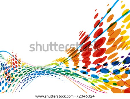 abstract colorful wave line with space of your text, vector illustration