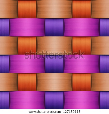 abstract colorful wood wicker background